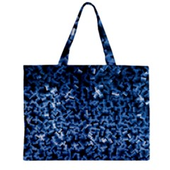 Blue Cubes Zipper Tiny Tote Bags by timelessartoncanvas