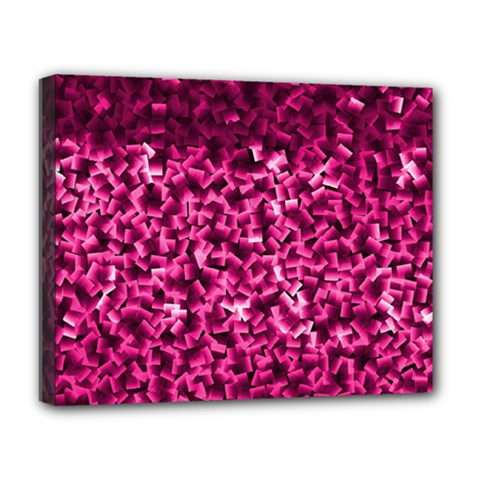 Pink Cubes Deluxe Canvas 20  x 16   by timelessartoncanvas
