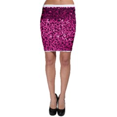 Pink Cubes Bodycon Skirts
