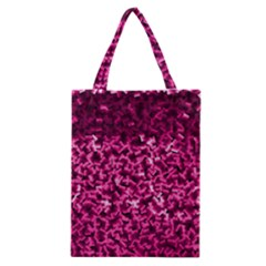 Pink Cubes Classic Tote Bags by timelessartoncanvas