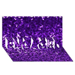 Purple Cubes Engaged 3d Greeting Card (8x4)  by timelessartoncanvas