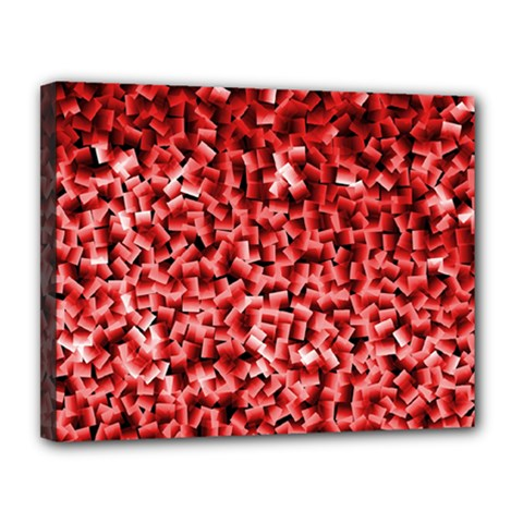 Red Cubes Canvas 14  X 11  by timelessartoncanvas