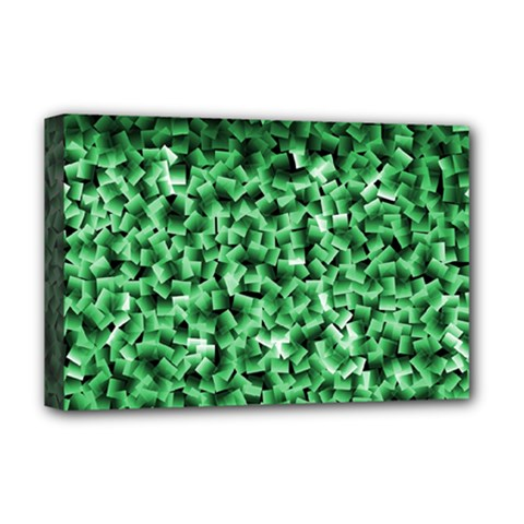Green Cubes Deluxe Canvas 18  X 12   by timelessartoncanvas