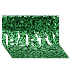 Green Cubes Party 3d Greeting Card (8x4)  by timelessartoncanvas