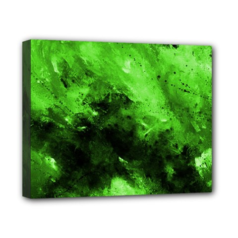 Bright Green Abstract Canvas 10  X 8