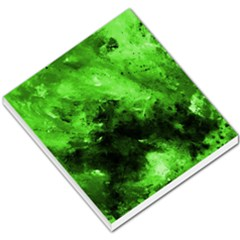 Bright Green Abstract Small Memo Pads