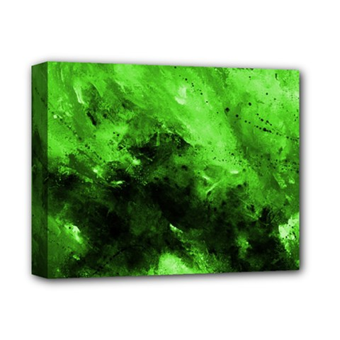 Bright Green Abstract Deluxe Canvas 14  X 11