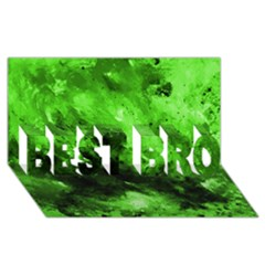 Bright Green Abstract Best Bro 3d Greeting Card (8x4)