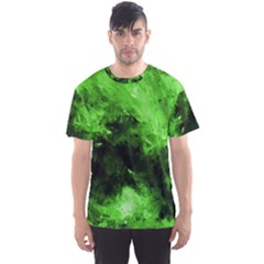 Bright Green Abstract Men s Sport Mesh Tees