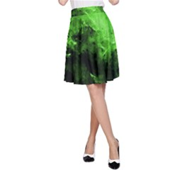 Bright Green Abstract A Line Skirts