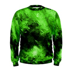 Bright Green Abstract Men s Sweatshirts