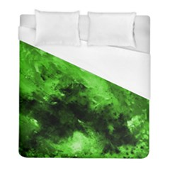 Bright Green Abstract Duvet Cover Single Side (twin Size) by timelessartoncanvas