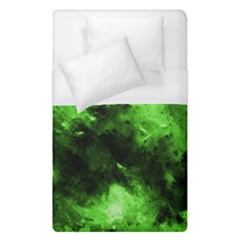 Bright Green Abstract Duvet Cover Single Side (single Size) by timelessartoncanvas