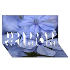 Bright Blue Flowers #1 Mom 3d Greeting Cards (8x4)  by timelessartoncanvas