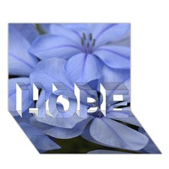 Bright Blue Flowers Hope 3d Greeting Card (7x5)  by timelessartoncanvas