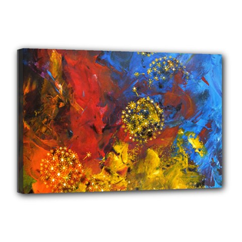 Space Pollen Canvas 18  X 12  by timelessartoncanvas