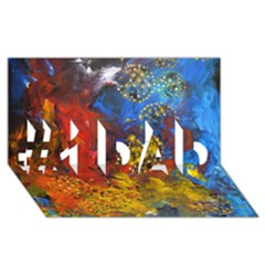 Space Pollen #1 Dad 3d Greeting Card (8x4)  by timelessartoncanvas