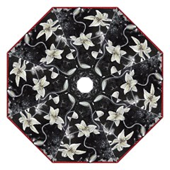 Black And White Lilies Golf Umbrellas by timelessartoncanvas
