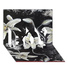 Black And White Lilies Boy 3d Greeting Card (7x5)