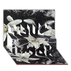 Black And White Lilies You Rock 3d Greeting Card (7x5)  by timelessartoncanvas