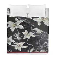 Black And White Lilies Duvet Cover (twin Size) by timelessartoncanvas