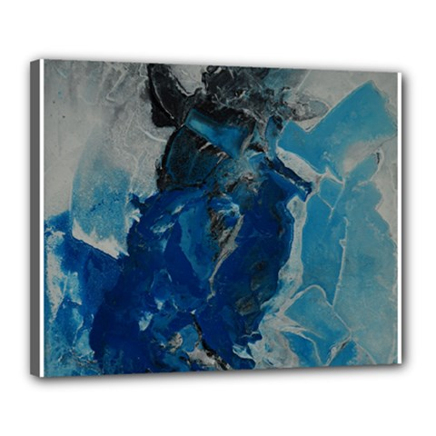Blue Abstract Canvas 20  X 16  by timelessartoncanvas