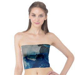 Blue Abstract Women s Tube Tops