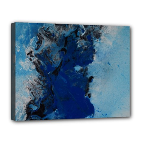 Blue Abstract No 2 Canvas 14  X 11  by timelessartoncanvas