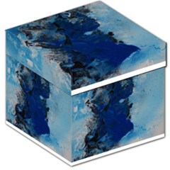Blue Abstract No.2 Storage Stool 12   by timelessartoncanvas