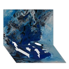 Blue Abstract No 2 Love Bottom 3d Greeting Card (7x5)  by timelessartoncanvas