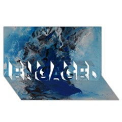 Blue Abstract No 2 Engaged 3d Greeting Card (8x4)  by timelessartoncanvas