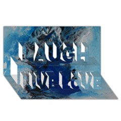 Blue Abstract No 2 Laugh Live Love 3d Greeting Card (8x4)