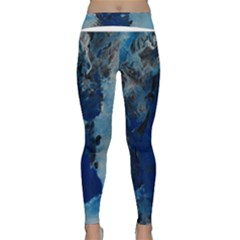 Blue Abstract No.2 Yoga Leggings by timelessartoncanvas