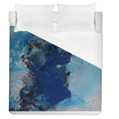 Blue Abstract No 2 Duvet Cover Single Side (full/queen Size)