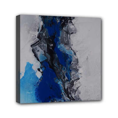 Blue Abstract No 3 Mini Canvas 6  X 6  by timelessartoncanvas