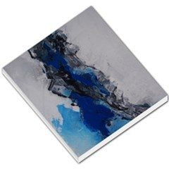 Blue Abstract No 3 Small Memo Pads by timelessartoncanvas
