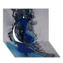 Blue Abstract No 3 Circle 3d Greeting Card (7x5)  by timelessartoncanvas