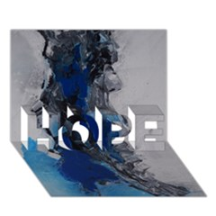 Blue Abstract No 3 Hope 3d Greeting Card (7x5)  by timelessartoncanvas