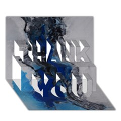 Blue Abstract No 3 Thank You 3d Greeting Card (7x5)