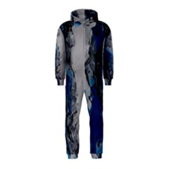 Blue Abstract No.3 Hooded Jumpsuit (Kids)