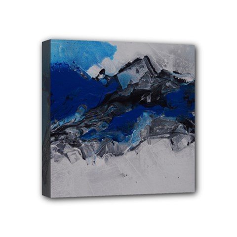 Blue Abstract No.4 Mini Canvas 4  x 4  by timelessartoncanvas