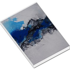 Blue Abstract No 4 Large Memo Pads by timelessartoncanvas