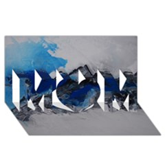Blue Abstract No 4 Mom 3d Greeting Card (8x4)