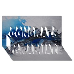 Blue Abstract No.4 Congrats Graduate 3D Greeting Card (8x4)  by timelessartoncanvas