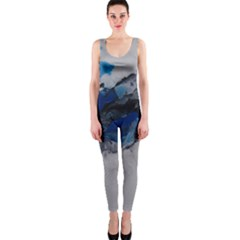 Blue Abstract No 4 Onepiece Catsuits by timelessartoncanvas