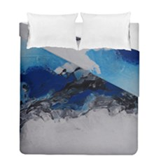 Blue Abstract No 4 Duvet Cover (twin Size) by timelessartoncanvas
