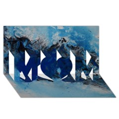 Blue Abstract No 5 Mom 3d Greeting Card (8x4)  by timelessartoncanvas
