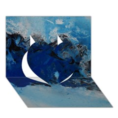 Blue Abstract No 5 Heart 3d Greeting Card (7x5)  by timelessartoncanvas