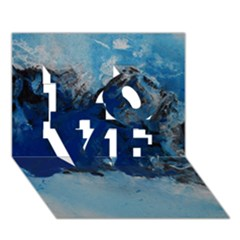 Blue Abstract No 5 Love 3d Greeting Card (7x5)