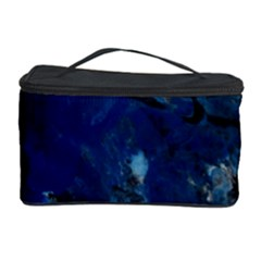 Blue Abstract No 5 Cosmetic Storage Cases by timelessartoncanvas